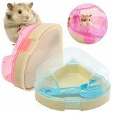 Hamster Pet Fareler Gerbils Kafes Köşe Tuvalet Lazımlık Kutu Yıldız Çatı ve