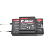 FlySky FTr10 2.4G 10CH AFHDS 3 RC Receiver Support i-BUS/S-BUS/PPM Output Compatible PL18 for RC Drone