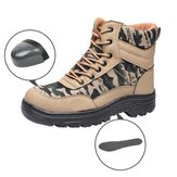 TENGOO Steel Toe Safety Shoes Labor Insurance Shoes Waterproof Anti-Smashing Non-Slip Outdoor Hiking Work Shoes
