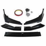5 PCS Bumper Bumper Protetor Lip Body Kit Spoiler Splitter Para Honda Civic 2019-2020 Sedan