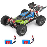 Wltoys 144001 1/14 2.4G 4WD High Speed Racing RC Auto Voertuigmodellen 60km / u 7.4v 1500mah Twee of drie batterijen