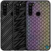 For Xiaomi Redmi Note 8 Case NILLKIN Luxury Luster Twinkle Shield Woven Polyester + PU Leather Hard Back Protective Case Non-original