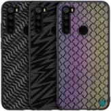 Para Xiaomi Redmi Note 8 Caso NILLKIN Luxo Luster Twinkle Shield Tecido poliéster + PU Couro Proteção Dura Para Trás Caso Não original