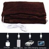 Warmtoo 45x80cm Samochód elektryczny ocieplenie domu Koce grzewcze Pad Ramię na szyję Ogrzewanie Szal USB Soft 5V 4W Winter Warm Health Care