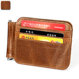 Men WomenRFID Genuine Leather Leight Weight Casual Thin Wallet