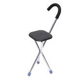 Travel Camping Cane Walking Stick Fishing Chair Portable Folding Tripod Stool Hiking Seat