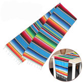35  x 213cm 5pcs Mexican Blanket Table Flag Picnic Mat For Travel Outdoor Beach Towel Car Blankets
