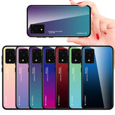 For Samsung Galaxy S20 Bakeey Gradient Color Tempered Glass Shockproof Scratch Resistant Protective Case