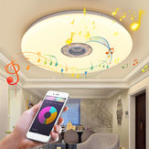 60W Smart LED Luz de techo RGB bluetooth Música Altavoz regulable Lámpara APP Control remoto