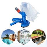 Swimming Pool Cleaning Tool Pond Jet Vacuum Brush Skimmer Cleaner Spa Tool Fast Cleaning Debris Pickup Removal Pond Bag Rake