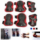 6Pcs/Set Outdoor Sports Adult Knee Elbow Wrist Guard Pad Protectors Safety Gears Skateboard Training Tools For Skating Blading Cycling