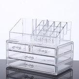 Escritorio acrílico transparente de gran capacidad Maquillaje Almacenamiento de cosméticos Caja Joyas Organizador Acrílico Pantalla Caja Almacenamiento con cajones