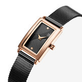 SHENGKE SK K0119 Rectangular Drape Dial Women Quartz Watch