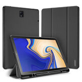 Tri-Fold Pen Hole Tablet Case pour Samsung TAB S4 10.5