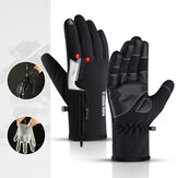 New Outdoor Waterproof Gloves Quarter Zipper Touch Screen Men And Women Riding Warm Sports Hiking Skiing Plus Thickening