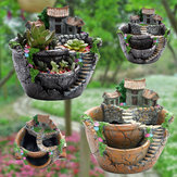 Hari ayah Hadiah Pot Bunga Resin Pot Bunga Planter Succulent Decoration Pot