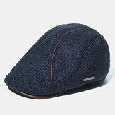 Cappello lavorato a maglia da uomo Cappellino berretto caldo imbottito Cappello casual con visiera esterna