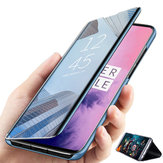 Bakeey Plating Mirror Window Shockproof Flip Full Cover Protective Case for OnePlus 7 Pro