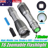 Elfeland T6 Torcia ricaricabile lampada Tattico zoom leggero