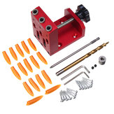 Drillpro XK-R3 3 Holes Woodworking 9mm Self Clamp Pocket Hole Jig System Drill Guide with Pocket Hole Drill Bit Screwdriver and Screws