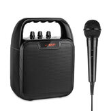 Archer Portable Bluetooth Speaker Karaoke Microphone Computer Speakers with Microphone Mobile Sound Machine Voice Amplifier for Bluetooth/USB/TF/AUX Slot 4-8 Hours Operating Time