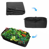 Raised Garden Bed Non-woven Fabric Square Garden Flower Grow Bag Vegetable Planting Bag Flower Pot with Handles