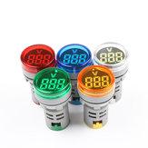 22mm DC電圧測定器ミニ電圧計Colorful DC6〜100V AD101-22VMインジケーター電圧計