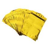 100pcs金のアルミホイルは袋のジッパーロックのマイラーの袋12×20cmを立てます