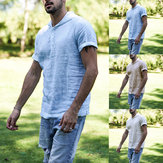 Mens Hoodie Baggy Short Sleeve T Shirts Top Plain Sport Gym Causal Tee Top S-5XL