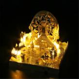 Model 3D montowany w parku rozrywki Karuzela Ferris Wheel Roller Coaster Puzzle Edukacyjne Zabawki Model budynku