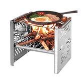 Durável dobrável para churrasco churrasqueira fogão ao ar livre piquenique camping churrasqueira com armazenamento Bolsa