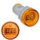 3pcs Yellow 22MM AD16 AD16-22DSV Type AC 60-500V Mini Voltage Meter LED Digital Display AC Voltmeter Indicator Light/Pilot Lamp 110V 220V