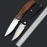 Enlan L05 8CR13Mov Blade G10 or Wood Handle Folding Pocket Knife With Clip Liner-lock Stainless Steel Knife
