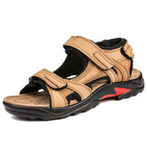 Genuine Leather Slip Resistant Soft Sole Outdoor Sandals