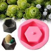 Handmade Silicone Flower Pot Mould 3D Geometric Concrete Succulent Planter Craft