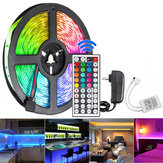 5M 300 LED Strip Light Waterproof String Lamp 12V 2835 SMD RGB +24/44Keys IR Controller+US Power Adaptor
