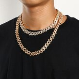 Geometric Square Cuban Chain Necklace