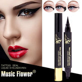 2in1 Music Flower Liquid Eyeliner Stamp Eye Liner Pencil Lon
