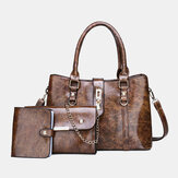 3 PCS Women Casual Large Capacity Multifunction Handbag