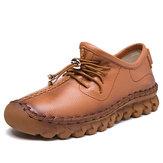 SOCOFY Повседневная Очень Soft Плоские Кожаные Ботинки