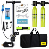 2x0.5L DEDEPU Scuba Diving Tank Mini Scuba Tank Air Oxygen Cylinder Underwater Diving Set with Adapter & Storage Box Diving Set equipment 11 In 1