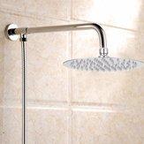 Modern 8 '' Yuvarlak Krom Paslanmaz Çelik Su Yağış Havai Duş Başlığı Banyo