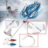 ZANLURE Metal 11cm 50g Buzz Fishing Lure Spinner Baits With Lead Head Crank Hook