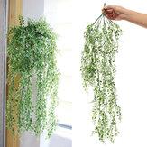 84 cm Yapay Yapraklar Vine Yeşil Yaprak Rattan Ivy Süsler Düğün Parti Süslemeleri için