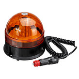 DC12-24V 40LED Magnetic Roof Rotating Flash Amber Beacon Strobe Tractor Light Signal