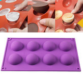 8 Half Ball Sphere Silicone Mold Cake Chocolate Candy Soap Cookie Baking