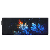 The Mangrove Honeysuckle USB Wired RGB Colorful Backlit LED Mouse Pad for Gaming Mouse E-Sport