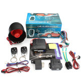 Universal 12V Car Alarm System Auto Burglar Protection Security Keyless with 2 Remote And Alarm Horn