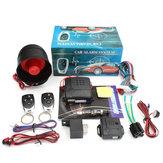 Universal 12 V Sistema de Alarme de Carro Auto Proteção Contra Assaltante Segurança Keyless com 2 remoto E Buzina de Alarme