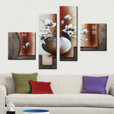 4Pcs Huge Flower Canvas Modern Oil Paintings Print Art Wall Home Decor